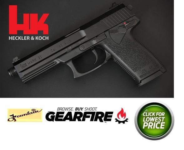 """Heckler & Koch HK Mark 23 (SOCOM Pistol) Semi Automatic Pistol .45 ACP 5.87"""" Threaded Barrel 12 Rounds Polymer Frame Black Finish"""