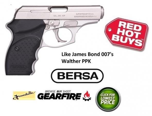 BERSA NICKEL CONCEALED CARRY 380 ACP 3.5 INCH BARREL 8+1 ROUNDS - SUPER HARD TO FIND
