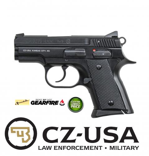 "Hard to Find!!! CZ-USA CZ-2075 Rami 9mm 3"" Barrel 14+1 Rubber Grips Black Finish"
