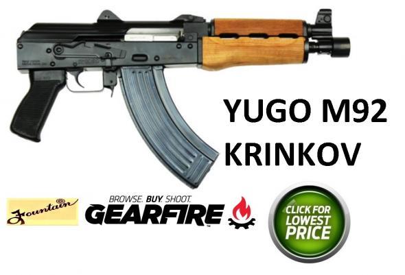Yugo / Serbia Krink AK47 Pistol CEN PAP AK Style M92 PV Pistol 7.62x39mm 10 Inch Barrel Hinged Top Cover 30 Round