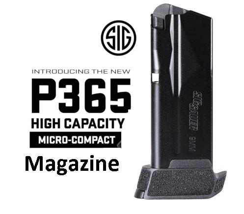 Sig Magazine P365 9mm 12-round Black