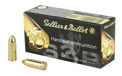 Sellier & Bellot, Pistol, 9MM, 115 Grain, Full Metal Jacket, 50 Round Box