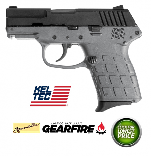 "Kel-Tec PF-9 Semi-automatic Double Action Only Compact 9MM 3.1"" Polymer Blue Gray 7Rd"