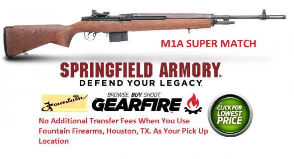 "Springfield Armory M1A Super Match Semi-Auto .308 Win 22"" 10+1 Stk Blue"