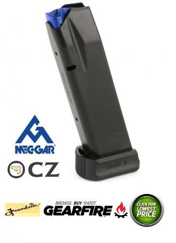 Mec-Gar CZ 75B Magazine 9mm Luger 19 Rounds Steel Black MGCZ7519AFC