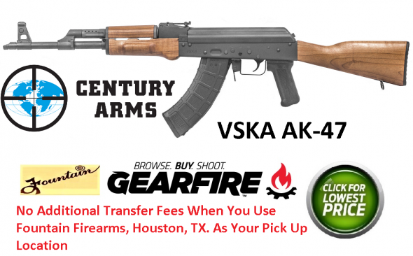 "Century Arms, VSKA, Semi-automatic Rifle, 7.62X39, 16.25"" Chrome Moly Barrel, Matte Blued Finish, Wood Stock, 1 Magazine, 30 Round 💲💲Cash $659.95💲💲"