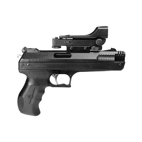 Beeman 2006 P17 Deluxe Air Pistol with Red Dot Scope  177 Pellet Post  Front/Adj Rear Syn Grip/Frame Black