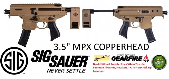 "HOT& NEW 2019!! Sig MPX COPPERHEAD WITH 3.5"" BARREL"