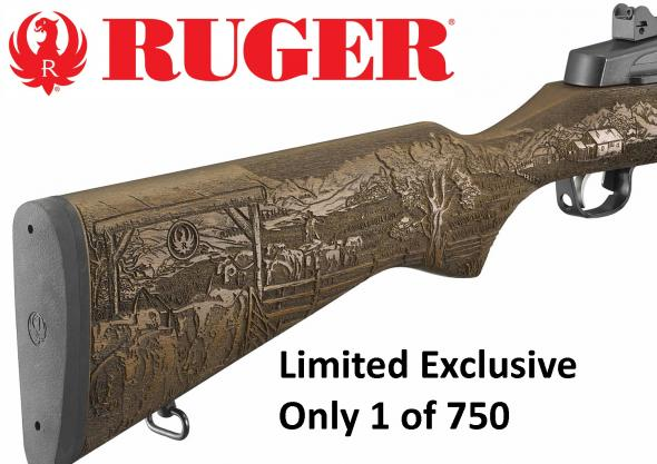 Ruger Special Ranch Engraved Mini-14 Exclusive Limited TALO Edition 1 of 750