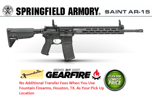 "2019 Springfield SAINT AR-15 Tactical Gray 223 Rem/556NATO, 16"" Barrel, 1:8 Twist, Mid-Length Gas System, Tactical Gray Finish, Magpul Stock and Grip, Free Float M-Lok Handguard, 1-30Rd PMAG, Flip Up Front and Rear Sights"