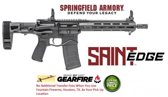 "NEW 2020!!! Springfield Saint Edge Pistol 5.56 NATO|223 Rem, 10.3"" Barrel, 30+1 Round, Black Finish💲💲Cash $1519.95💲💲"