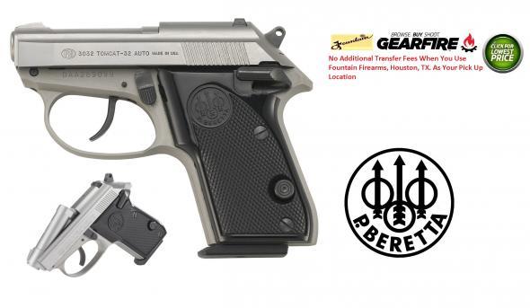 "Beretta 3032 Tomcat 32 ACP 2.4"" 7+1 Synthetic Grip Inox Stainless J320500"