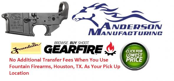 Anderson Manufacturing AR-15 Stripped Lower Receiver, Multi-Caliber, Mil-Spec, Aluminum, Matte Black