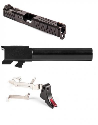 ZEV Technologies Enhanced SOCOM Slide Kit Glock 17 Gen 3 Stainless Steel -  W/ Grey Ghost Percision Match Barrel/ Zev trigger