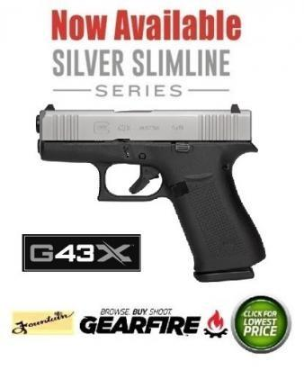 New 2019!! GLOCK 43X 9MM 10RD  SLIVER SLIME CARRY