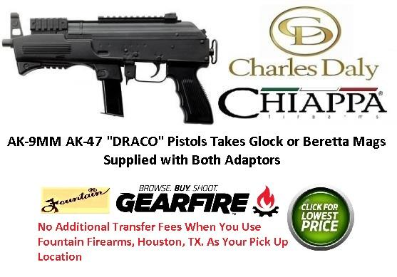 DRACO Type AK-9 9mm Luger Semi Auto Pistol 6 3