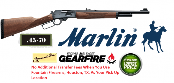 Marlin 1895G Guide Gun .45-70 Government 18.5 Inch Barrel Blue Finish American Walnut Straight Stock 4 Round