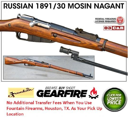 Soviet Russian M91/30 Mosin Nagant (WWI & WWII)  7.62x54R - VG to EX Condition - Militar Surplus
