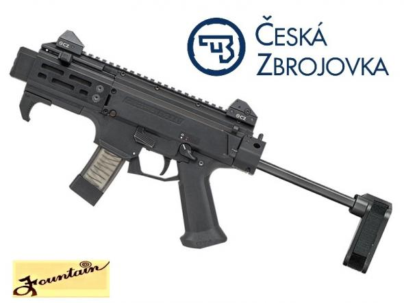 "Super Hot 2019!!! CZ MICRO Scorpion EVO 3 S2 with 4"" Barrel and Brace 9mm"