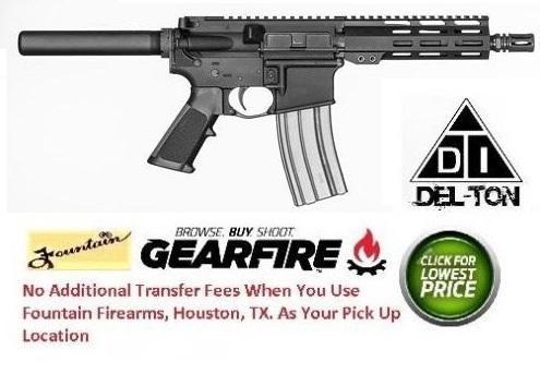"""Del-Ton Lima AR-15 Semi Auto Pistol 5.56 NATO 7.5"""" Barrel 30 Rounds M-LOK Handguard Black - DELTON"""