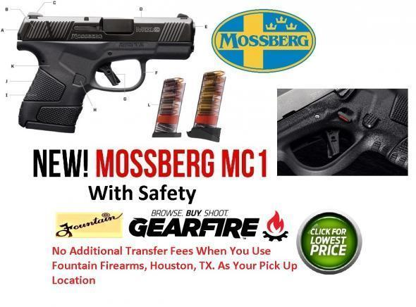 """NEW 2020!!! MOSSBERG MC1 9MM 3.4"""" Barrel Sub Compact with Safety 6 & 7 ROUND MAGS 💲💲Cash $309.95💲💲"""
