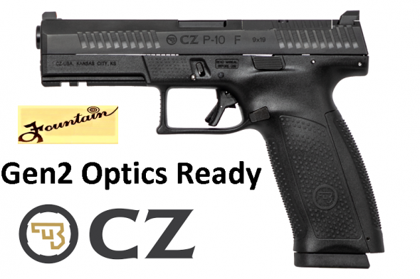 "MEGA HOT 2019!!! CZ P-10F Gen2 Factory Optics Ready 9MM, 4.5"" Barrel, Polymer Frame And Grips, Trigger Safety, Full Size, Orange Front Night Sight, Black Rear Sight, 19Rd, Semi-automatic, Striker Fired, Black Finish"