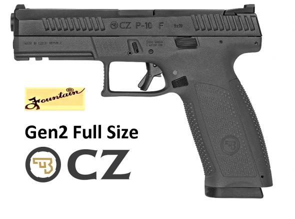 "New 2019!! CZ P-10F Gen2 Full Size 9MM, 4.5"" Barrel, Polymer Frame And Grips, Triggr Safety, Full Size, Semi-automatic, 3 Dot Sights, 19Rd, Striker Fired, Black Finish"