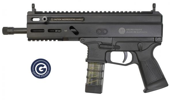 "Grand Power, Stribog, Semi-Automatic Pistol, 9MM, 8"" Threaded Barrel, Aluminum Frame, Black Finish, 20Rd, 2 Magazines, MLOK Accessory Mounts"