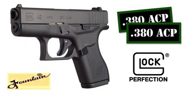 "Super Priced!!! Glock 42 G42 380 ACP Pocket Carry Pistol 3.26"" Barrel 6 Rounds 💲💲Cash $389.95💲💲"