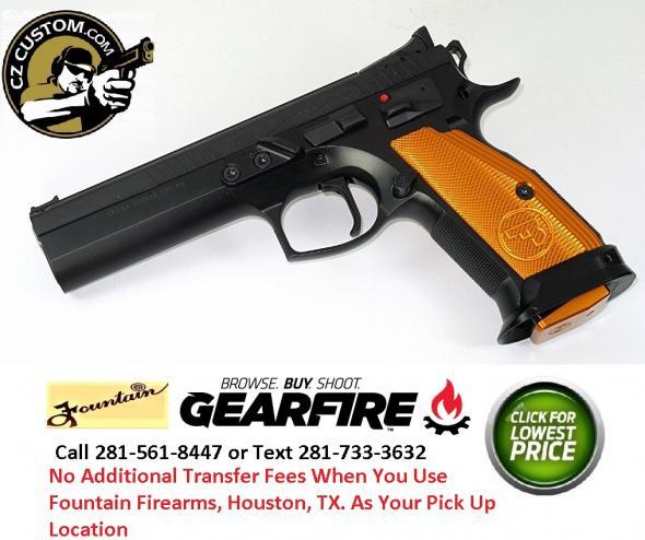 """MEGA Hot 2020!! CZ 75 Custom Orange TS (Tactical Sport)  9MM, 5.4"""" Barrel, 20 Rounds 💲💲Cash $1659.95💲💲"""