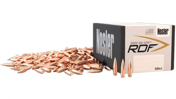 Nosler 53182 RDF Match 30 Caliber  308 168 GR Hollow Point Boat Tail 100  Bullets Per Box