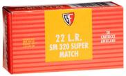 Fiocchi Super Match 22 Long Rifle Round Nose 40 GR 50Box