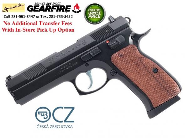 "Super Hard To Find 2019!!! CZ 97B ""BIG BORE"" 45 ACP, 4.5"" Cold Hammer Forged Barrel, Steel Frame, Black Finish, Wood Grips, 2-10Rd Magazines, Manua"