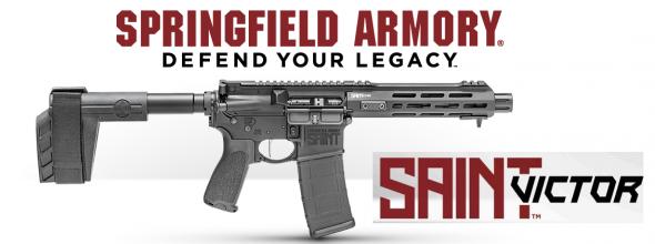 "Super Hot 2019!!! Springfield SAINT Victor Pistol AR, 223 /556NATO, 7.5"" Barrel, 1:7 Twist, Anodized Finish, BCM Trigger Guard & Mod 3 Pistol Grip, M-LOK Free Float Handguard, SB Tactical SBX-K Stabilizing Brace, 30Rd PMAG M3 💲💲Cash $929.95💲💲"