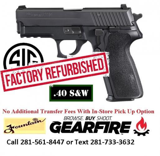 Over Half Off MSRP!!! Sig Sauer P229 Factory Refurbished 40S&W