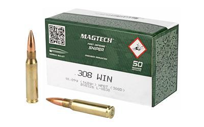Magtech, Match, 308WIN, 168 Grain, Sierra MatchKing Boat Tail Hollow Point,  50 Round Box