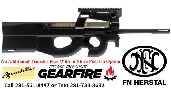 "Inferno Hot!! FN PS90® Semi-Automatic 5.7mmX28mm 16.04"" 30+1 Syn Stk Black"
