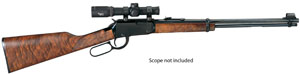 "Henry H001M Lever Magnum Lever 22 Magnum 19.25"" 11+1 American Walnut Stk Blue"