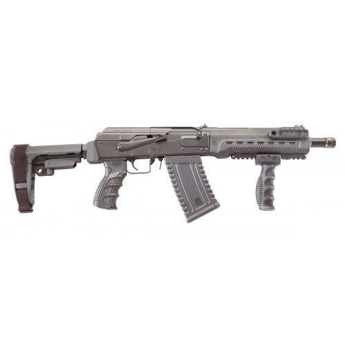"Kalashnikov KOMRAD 12 Ga, 3"", 2x5rd Mags, 12.5� barrel, SB Tactical, SBA3 Brace, Handguard w/rails, Vertical Grip, Black"