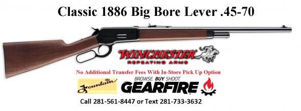 "Classic Reboot!!! Winchester 1886 45-70 Govt. Walnut Stock Blued Finish 22"""