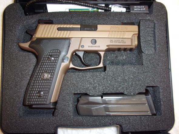 Minimally fired Sig Sauer P229 EMPEROR Scorpion 9mm FFDE 15+1 E29R