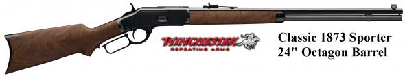 Collectible!!!! Winchester 1873 Lever Rifle Sporter 44-40 Oct Bbl PG Case Wood Stock 24