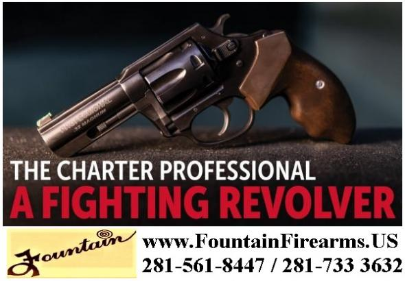 "Super Hot 2020!!!Charter Arms "" The Professional "" 7 Shot 32 H&R Magnum 3"" Barrel, Walnut Grip Black Nitride - 💲CASH $399.95💲"