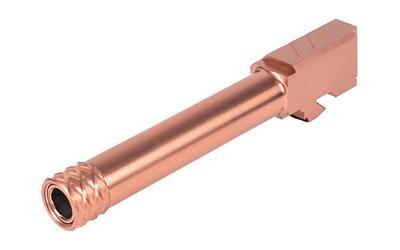 ZEV Technologies, Pro Barrel, Threaded, 9MM, For Glock 19 (Gen1-5), Bronze  Finish