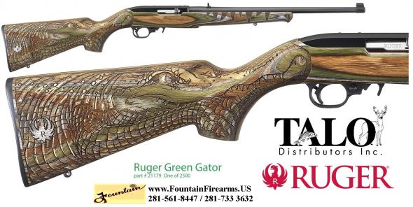 "RUGER / TALO 10/22 ""GATOR COUNTRY"" LAMINATED 22 LR 18.5"" BBL LIMITED EDITION 💲💲CASH $349.95💲💲"