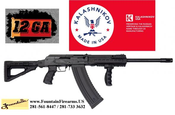 Super Hot 2020!!! Kalashnikov KS-12 SK47 Side Folding Tactical Package Shotgun, Semi-Auto 12g, 18' Barrel W/Brake, Includes Extras, Case💲💲CASH $824.95 💲💲