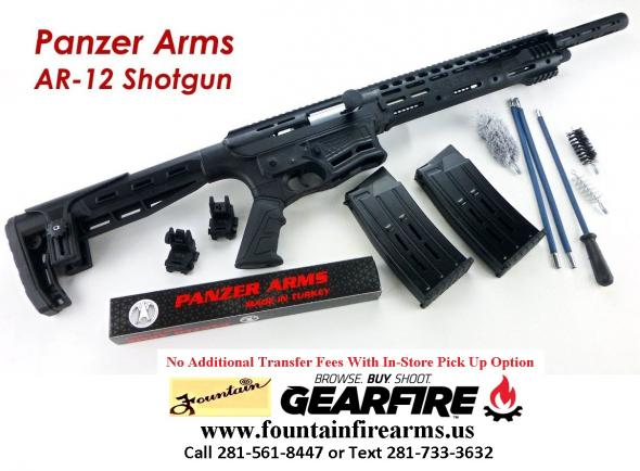 "Awesome!!! AR-12 Semi Auto, AR-15 Style 12ga Shotgun by Panzer Arms of Turkey, 3"" Chambers 💲💲CASH $429.95💲💲"