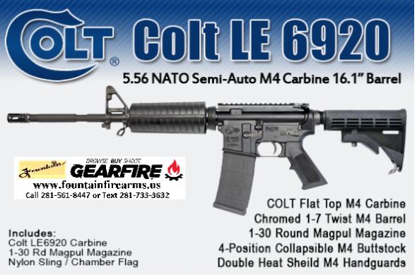 """Always a Winner!!! Colt 6920 M4A3 AR-15 5.56 NATO 16"""" M4 Barrel 30 Rounds M4 Stock Black LE6920 💲💲Cash $1039.95💲💲"""