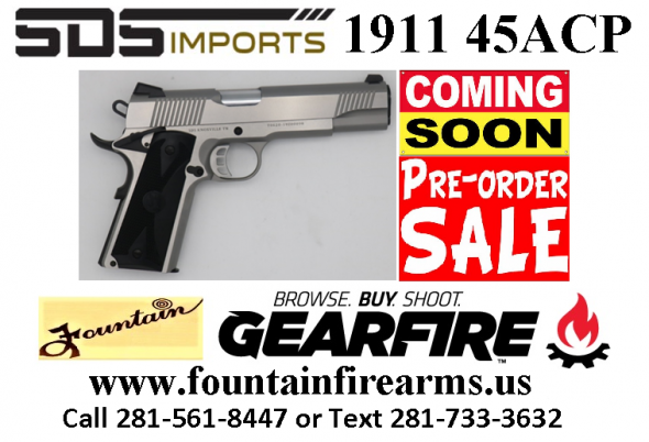PO Full Deposit Only:Super Hot 2020!!! SDS 1911 45ACP SHOOTING STAR STAINLESS STEEL  💲💲Cash $449.95💲💲