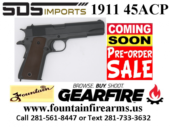 PO Full Deposit Only:Super Hot 2020!!! SDS 1911A1 45ACP US ARMY 5 FULL SIZE WWII MODEL 💲💲Cash $349.95💲💲